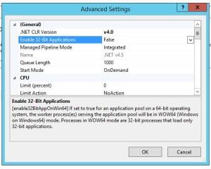 IIS8 32-bit Setting