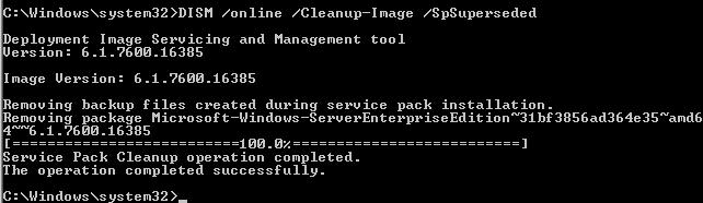 Cleanup WinSxS
