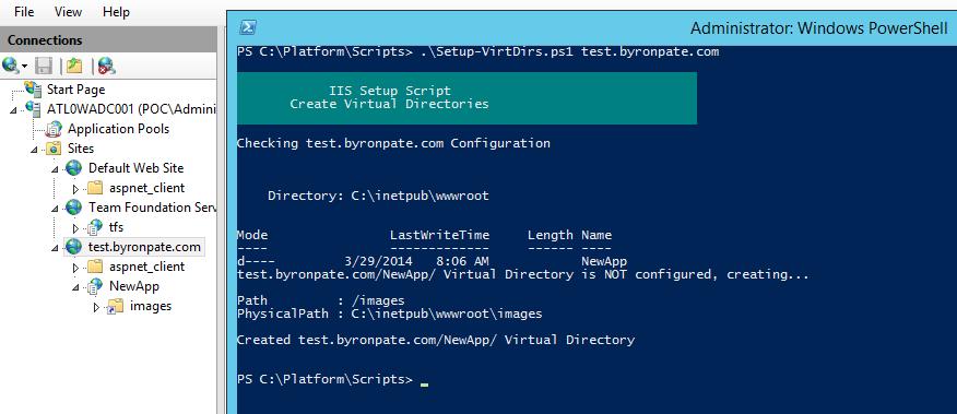 Script IIS Virtual Directory Setup - byronpate com