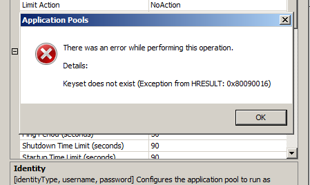 Troubleshooting IIS Shared Configuration - byronpate com
