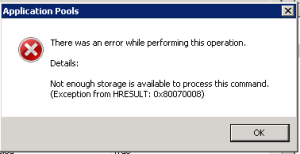 IIS Shared Configuration Troubleshooting