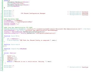 Script IIS Shared Config